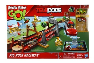 Angry Birds GO! Telepods Pig Rock Raceway Set Review and Giveaway