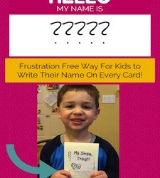 Frustration Free Way for Kids to Sign Every Card!
