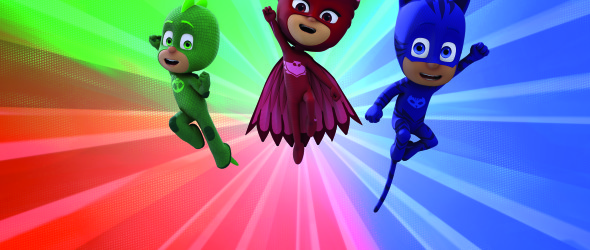 The PJ Masks, Owlette, Gekko and Catboy, are superheroes for preschoolers on Disney Channel.